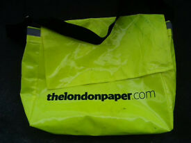 the London paper courier bag