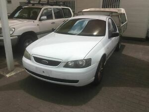 2003 Ford Falcon BA XL White 5 Speed Manual Cab Chassis Coopers Plains Brisbane South West Preview