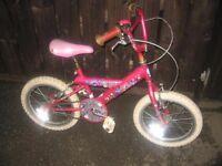 "GIRLS 16"" GOLDRUSH MISTY BICYCLE/BIKE"