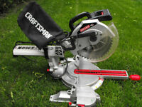 Scie a onglet coulissante Sears Craftsman 10'' 175$