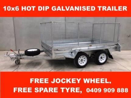 10x6 Tandem Hot Dipped Galvanised Trailer