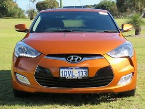 2013 Hyundai Veloster FS MY13 + Orange 6 Speed Auto Dual Clutch Coupe Hillman Rockingham Area Preview
