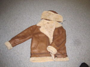 men's shearling (sheepskin) leather coat