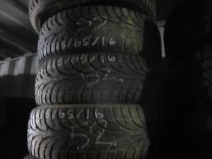 215/65 R16 SAILUN ICE BLAZER WINTER TIRES USED SNOW TIRES (SET OF 4) - APPROX. 85% TREAD