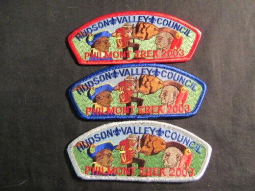 Hudson Valley Council Philmont Contingent SAPs 2003 Lot of 3    JHC