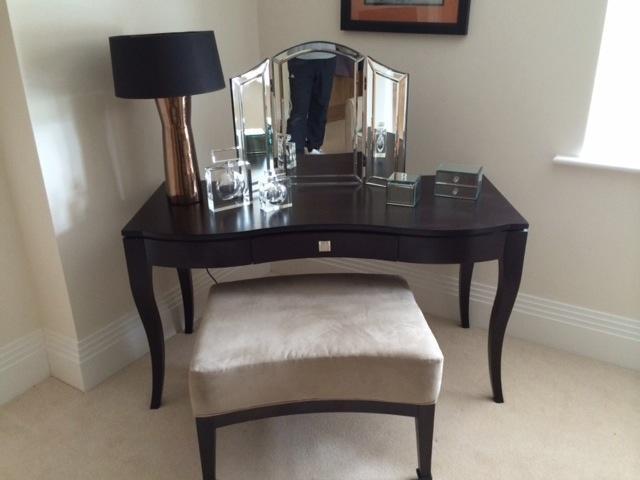 Stylish dressing table in contemporary black wood plus stool in woking surrey gumtree - Modern black dressing table ...