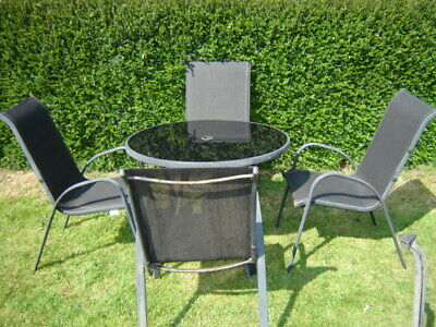 Garden & Patio Table And 4 Chair Set Used -COLLECTION ONLY!