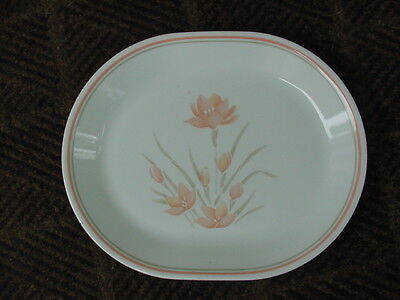 Corelle PEACH FLORAL Oval Serving Platter Corning