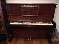 Beautiful Broadwood upright piano: a fabulous sounding instrument