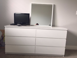 Brand New Malm IKEA bed set WHITE TWIN