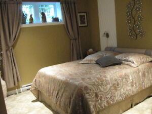 Literie complète avec rideaux pour lit Queen