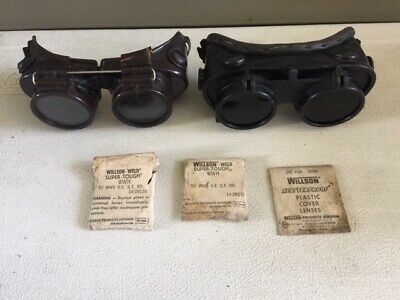 Vintage Welding Goggles And Lenses Lot