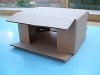 """Postal Mailing Boxes Cardboard 6x4x3"""" - Box 50 Flatpacked. Ideal for Small Models"""