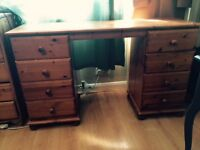 Pine Bedroom Furniture - Desk & Chest of Drawers
