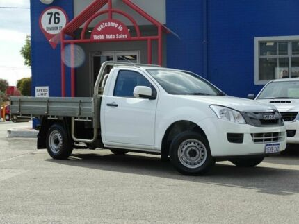 2013 Isuzu D-MAX MY12 SX White 5 Speed Manual Cab Chassis