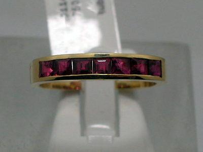 PRINCESS CUT RUBIN DESIGN RING IN 750 GELBGOLD Gr52 -RB- LUXUS PUR MASSIV Z286* (Gelber Princess-cut Diamant-ring)