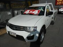 2011 Mitsubishi Triton MN MY11 GLX (4x4) White 5 Speed Manual 4x4 Cab Chassis Hindmarsh Charles Sturt Area Preview