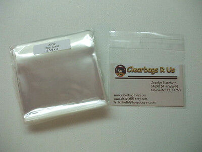 AF32 ~ 100 Clear Cellophane Bag Packaging Envelopes 3 5/8 x 2 Business Card Size for sale  New Cumberland