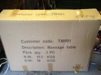Never out of box Massage Table