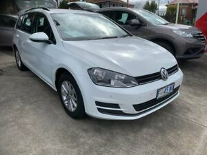 2017 Volkswagen Golf 7.5 MY17 110TSI DSG Trendline White 7 Speed Sports Automatic Dual Clutch Wagon North Hobart Hobart City Preview