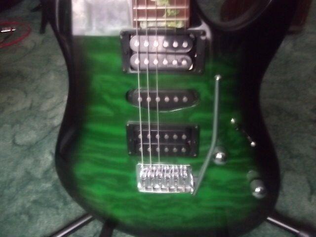 Ibanez Grx70qa Teb Green Electric Guitar Mint In Torquay Devon
