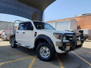 2009 Ford Ranger PJ 07 Upgrade XL (4x4) White 5 Speed Automatic Dual Cab Pick-up