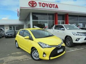 2015 Toyota Yaris NCP131R MY15 ZR Vivid Yellow 4 Speed Automatic Hatchback Belmore Canterbury Area Preview