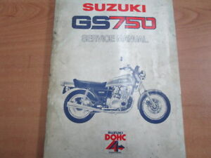 1977 SUZUKI GS750 SERVICE MANUAL