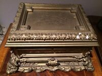 Antique Gesso Jewellery Box early 1800s