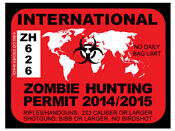 International Zombie Hunting Permit