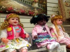 Brand New, Victorian porcelain dolls native Indian dolls 30% Off