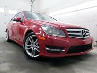 2012 Mercedes-Benz C250 4MATIC SPORT ROUGE / NOIR 89,000KM