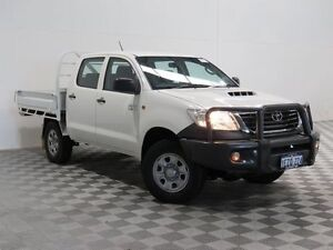 2012 Toyota Hilux KUN26R MY12 SR (4x4) White 5 Speed Manual Dual Cab Chassis Morley Bayswater Area Preview
