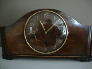 PRESTINE 8 DAY JUNGHAN WESTMINSTER CHIME CLOCK