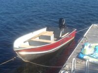 Fishing boat and motor for sale