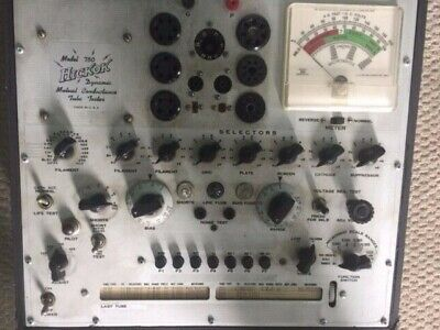 Hickok Model 750 Conductance Tube Tester Working