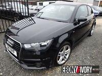 Audi A1 65678 MILES + 1.6 TDI S Line 3dr + FULL SERVICE HISTORY (black) 2011