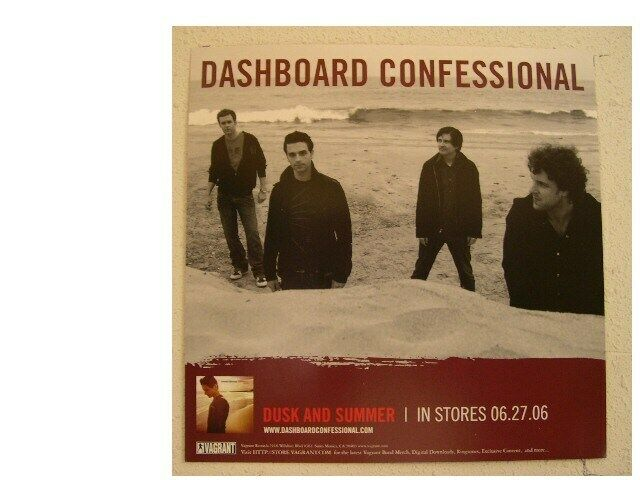 The Dashboard Confessional Poster 2 sided Promo