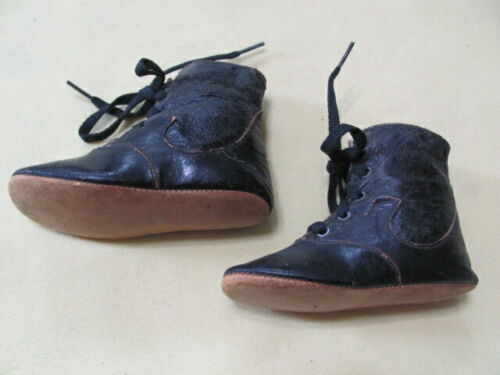 Antique high top lace up baby child
