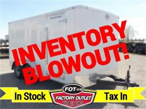 INVENTORY BLOWOUT! 7 ft x 14 ft Cargo Trailer w/HD Rear Ramp!