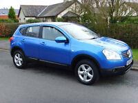 Nissan Qashqai Acenta 2.0L Petrol 5 DR (2008 Reg) Met Blue