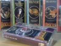 THE MUSICALS COLLECTION # 1-5 BY ORBIS PRERECORDED CASSETTE TAPES
