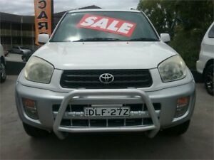 2001 Toyota RAV4 ACA21R Cruiser White 5 Speed Manual Wagon