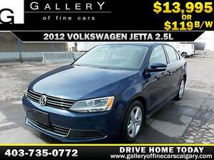 2012 Volkswagen Jetta 2.5L $119 bi-weekly APPLY NOW DRIVE NOW