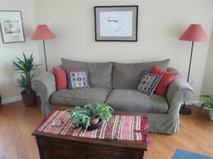 Custom Built Sofa, Chair, Ottoman / Down & Feather / All Cotton