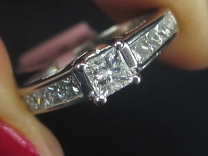 New-14K-White-Gold-Diamond-Bridal-Engagement-Wedding-Womens-Ring