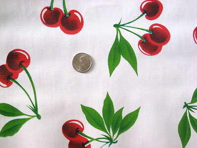 WHITE CHERRY STELLA RETRO KITCHEN PICNIC DINING OILCLOTH VINYL TABLECLOTH 48x60](Picnic Tablecloth)