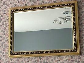 Gold/black edged mirror