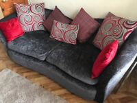 Scatter back fabric sofa available - v comfortable & v good condition