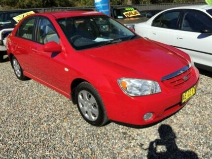 2005 Kia Cerato LD Red 5 Speed Manual Sedan Jewells Lake Macquarie Area Preview